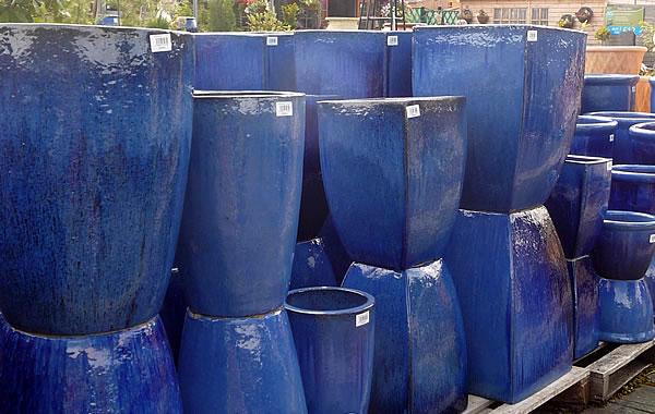large glazed pots garden planters and vases woodside garden centre