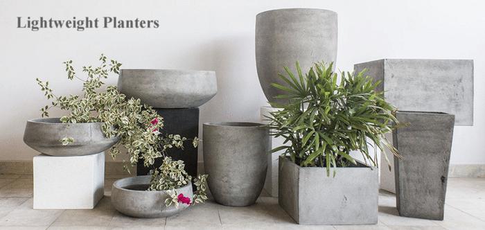 Lightweight Garden Pots Grey Fibreclay Patio Pots Woodside