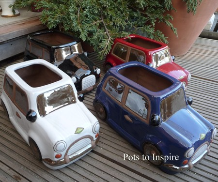 Novelty Mini Car And Taxi Ceramic Planters Woodside