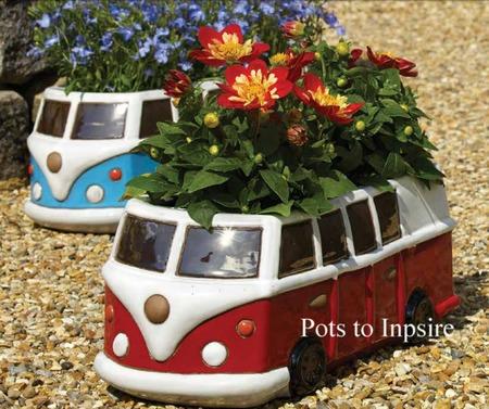 Vw Camper Van Ceramic Car Planter Woodside Garden Centre