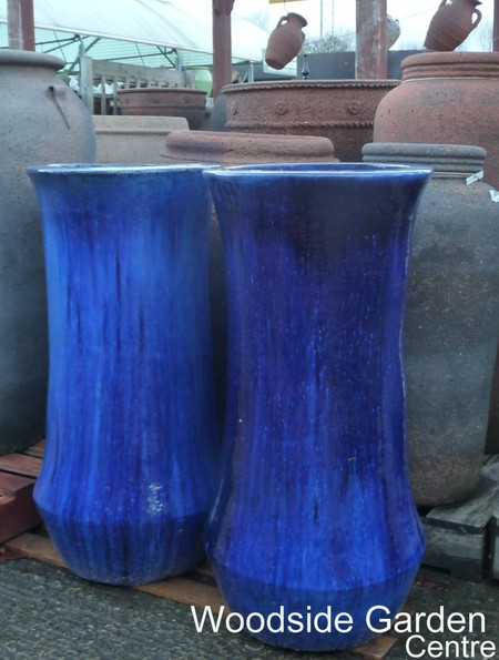 extra large blue glazed i pot garden planter woodside garden centre pots to inspire. Black Bedroom Furniture Sets. Home Design Ideas