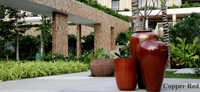 Large Red Glazed Pots And Planters Copper Red Plant Pots