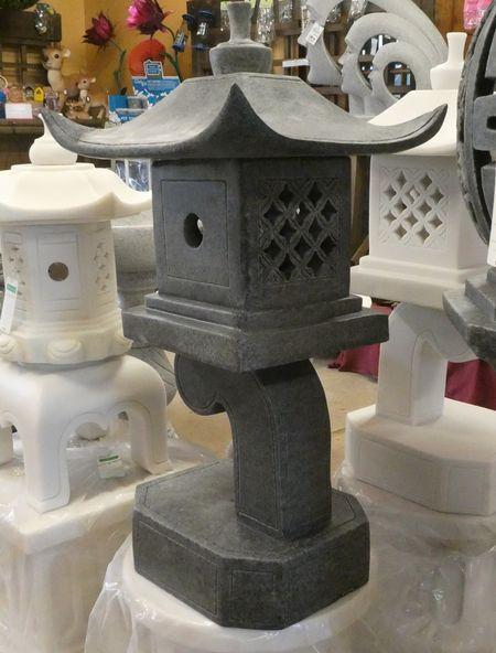 Dinova Marble Resin Contemporary Pagoda Garden Ornament
