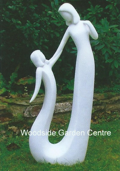 Fabulous Contemporary Mother and Child Home or Garden Statue | Woodside  LF26