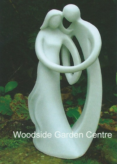 Enigma small contemporary always home or garden statue for Contemporary ornaments for the home
