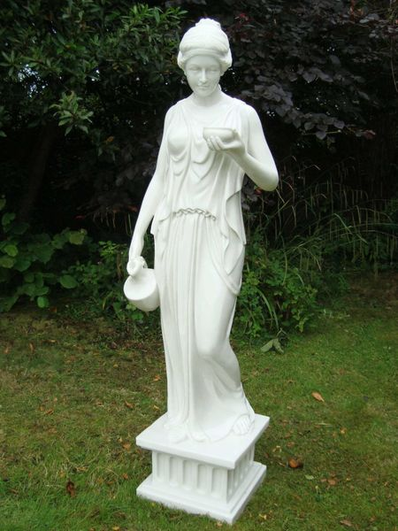Enigma Hebe Large Marble Resin Statue Woodside Garden