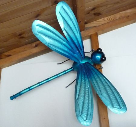 Fountasia Large Dragonfly Wall Art Metal Garden Ornament