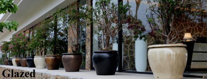 Large Glazed Pots Garden Planters And Vases Woodside