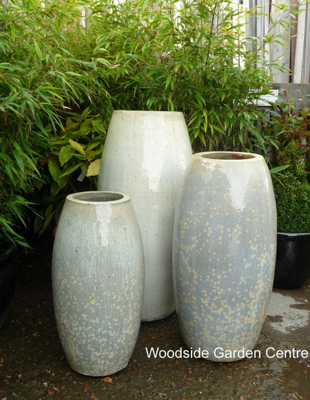 Extra Large Garden Pots Extra large tall glazed glacier green cream toggle pot planter extra large tall glazed glacier green cream toggle pot planter woodside garden centre pots to inspire workwithnaturefo