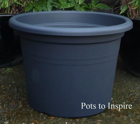 anthracite 69ltr italian plastic pot woodside garden centre pots to inspire. Black Bedroom Furniture Sets. Home Design Ideas