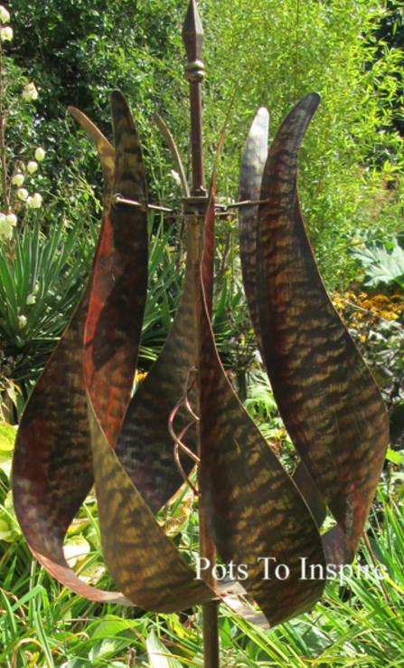 Jonart Metal Jubilee Bronzed Wind Spinner Garden Sculpture Woodside Centre  Pots To Inspire