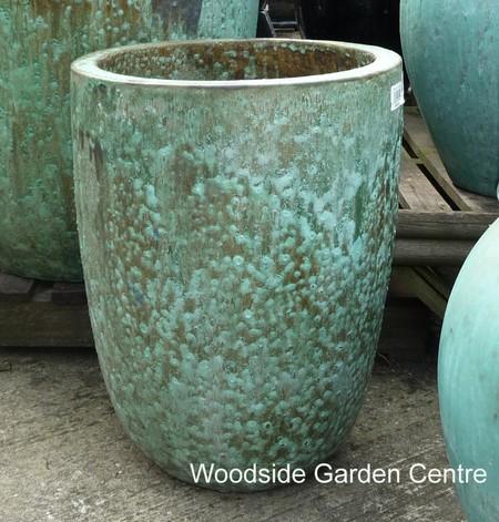 Large Tall Opal Green Glazed Pot Planters Woodside Garden Centre Pots To Inspire