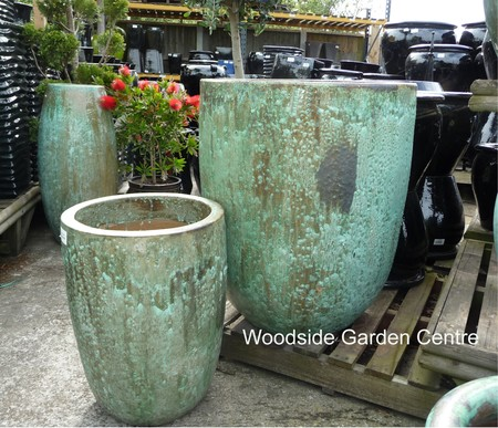 extra large tall opal green glazed pot planter woodside garden centre pots to inspire. Black Bedroom Furniture Sets. Home Design Ideas