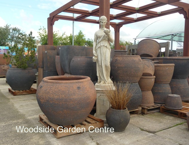 extra large old stone cannibal olive tree pot woodside garden centre pots to inspire. Black Bedroom Furniture Sets. Home Design Ideas