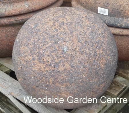 Old Stone Large Ball Garden Sphere Ornament Woodside