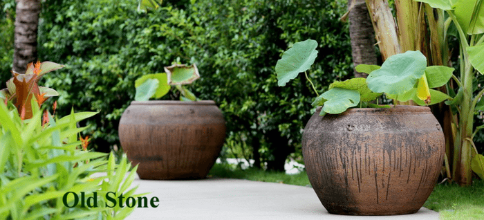 Extra large garden pots old stone pots rustic ironstone planters old stone is a heavily textured sandblast finish which is high fired to to achieve a frost proof finish which is superior in both colour and strength workwithnaturefo