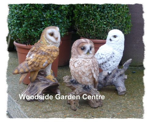 Large Resin Barn Owl Vivid Arts Garden Ornament Woodside Garden