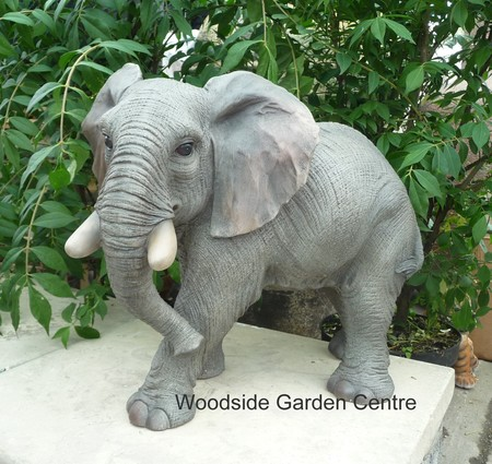Resin Elephant Wild Animal Home Or Garden Ornament | Woodside Garden Centre  | Pots To Inspire