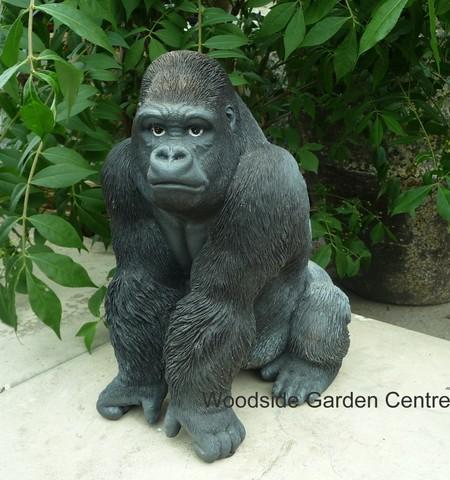 Resin Gorilla Wild Animal Home Or Garden Ornament