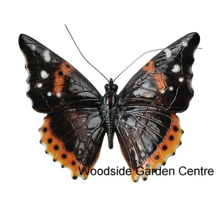 Vivid arts large resin butterfly b garden ornament for Outdoor butterfly ornaments