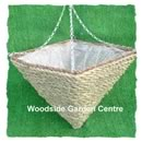 Square Cone Rattan Rope 14 inch Hanging Basket