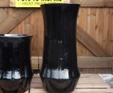 Large Tall Black Glazed I pot Garden Planter