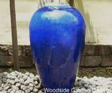 Large Blue Glazed Pot Water Feature Essex