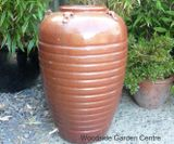 Large Copper Red Glazed Egyptian Vase Pot