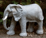 Large Granite Effect Marble Resin Elephant Garden Ornament