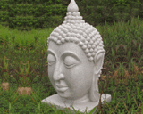 Dinova Resin Thai Buddha Head Garden Ornament
