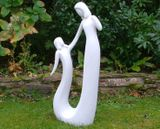 Contemporary Mother and Child Home or Garden Statue