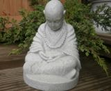 Enigma Marble Resin Monk Garden Ornament