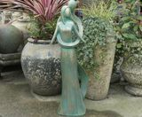 Contemporary Infinite Love Verdigris Home or Garden Statue
