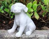 Marble Resin Puppy Dog Home Or Garden Ornament