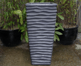 Large Grey Garden Pot Tall Glazed Lined