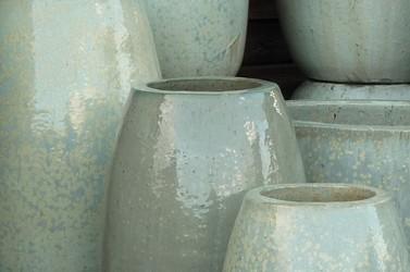 Glacier Green Cream Glazed Garden Pots