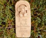 Hazelmill Famly Dog Wall Plaque Garden Ornament
