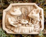 Hazelmill Tea for Two Wall Plaque Garden Ornament
