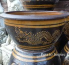 Dragon Low Thai Garden Decor Pot