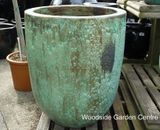 Extra Large Tall Opal Green Glazed Pot Planter
