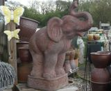 Old Stone Large Elephant Garden Ornament