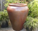 Extra Large Copper Red Glazed Palace Pot