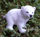 Resin Polar Bear Standing Animal Pot Stick Garden Ornament