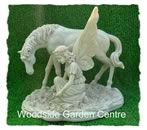 Polystone Fairy Unicorn Garden Ornament Statue Mystical