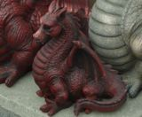 Resin Red Dragon Garden Ornament Fantasy Mystical