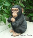 Resin Small Baby Chimpanzee Wild Home or Garden Ornament