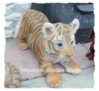 Resin Tiger Cub Playing Wild Home or Garden Ornament