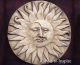 Sparta Large Sun and Moon Wall Plaque Garden Ornament