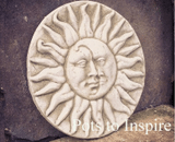 Sparta Sun and Moon Wall Plaque Garden Ornament