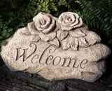Sparta Welcome Stone Stoneware Garden Ornament